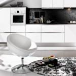 Tủ bếp trắng – đen phong cách hiện đại