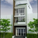 mat tien nha pho hien dai 150x150 Mẫu thiết kế nhà phố đẹp   hiện đại 6m x 16m