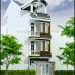 Mẫu thiết kế nhà phố đẹp – Mặt tiền 4M