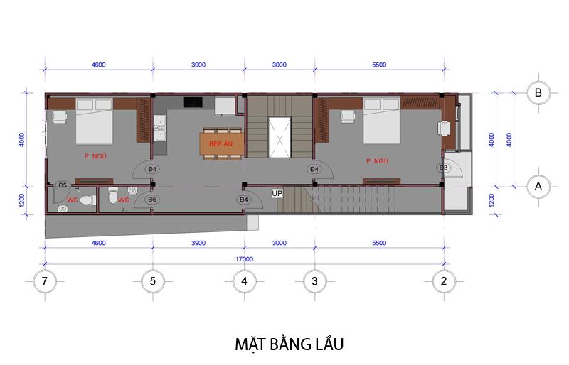 02 mat bang lau Mẫu thiết kế nhà đẹp – mẫu nhà phố 1 trệt 1 lầu