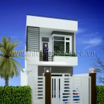 Mẫu thiết kế nhà đẹp – mẫu nhà phố 1 trệt 1 lầu