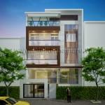 Mẫu thiết kế nhà phố hiện đại – Mặt tiền 10M