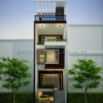 Mẫu thiết kế nhà phố đẹp | Hiện đại | Mặt tiền 5M
