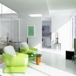 Decor ngôi nhà màu xanh