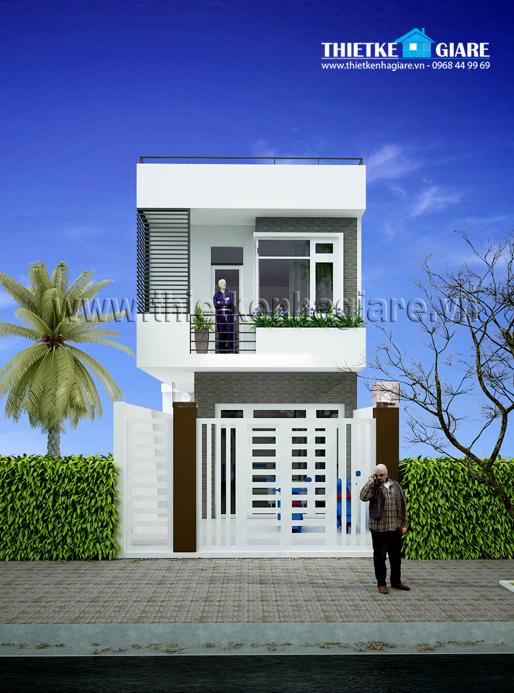 nha pho 1 tret 1 lau dep Mẫu thiết kế nhà đẹp – mẫu nhà phố 1 trệt 1 lầu