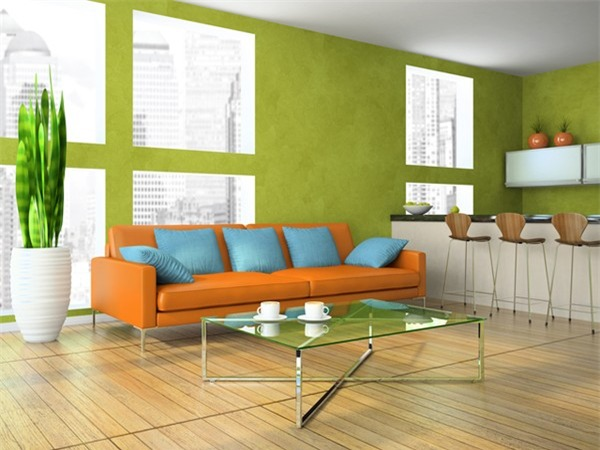 Trang trí nhà bằng màu xanh lá cây rất có lợi cho người mệnh Hỏa.
