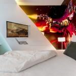 Phòng ngủ hiện đại cho nam và nữ