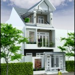 Mẫu thiết kế nhà phố đẹp hiện đại mặt tiền 6m