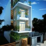 Thiết kế nhà đẹp – Nhà phố đẹp hiện đại mặt tiền 5m