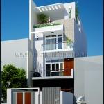 Mẫu thiết kế nhà phố hiện đại 3tầng