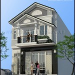 Mẫu thiết kế nhà phố 1 trệt 1 lầu đẹp