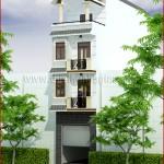 Mẫu thiết kế nhà phố 5mx18m