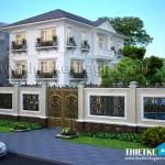 Thiết kế biệt thự cổ điển 3 tầng đẹp