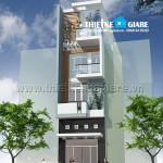 Mẫu thiết kế nhà phố hiện đại 3,5 tầng
