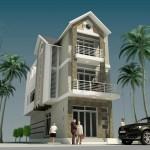 Mẫu thiết kế nhà phố mặt tiền 7m