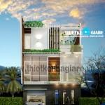 Mẫu thiết kế nhà phố hiện đại 8m