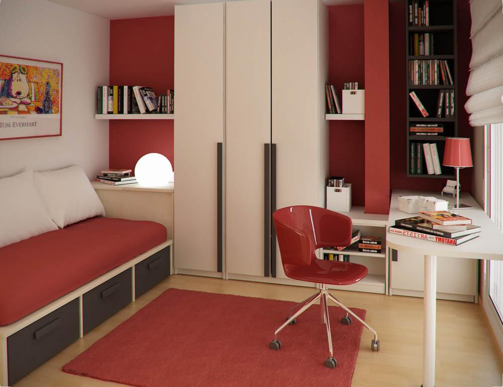 Phòng ngủ con trai màu sắc tinh nghịch.