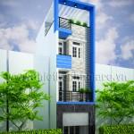 Mẫu thiết kế nhà phố hiện đại 4 tầng