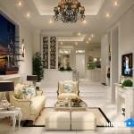 Mẫu thiết kế nội thất tân cổ điển cho không gian nhà phố