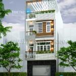 Mẫu thiết kế nhà phố 3,5 tầng diện tích 5m x 15m