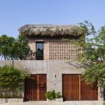 Ngôi nhà hiện đại với mái lá độc đáo