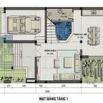Tư vấn thiết kế biệt thự 3 tầng – Diện tích 7,5 x 20m