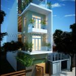 10 mẫu thiết kế nhà phố mặt tiền 5m đẹp hiện đại