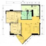 Nội thất chung cư với gam màu gỗ vàng