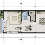 Tư vấn thiết kế nhà phố 5,5m x20m