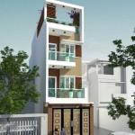 Tư vấn thiết kế nhà phố hiện đại 4 tầng