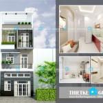 Mẫu thiết kế nhà phố hiện đại 4 tầng – mặt tiền 6m