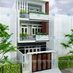 Mẫu thiết kế nhà ống 3 tầng hiện đại – Diện tích 5.5 x 12M