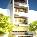 Tư vấn thiết kế nhà phố 5 tầng, diện tích 5x20m
