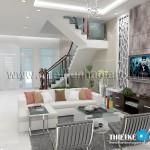 Mẫu thiết kế nội thất cho nhà phố 6m – 3 tầng