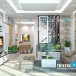 Mẫu thiết kế nội thất hiện đại cho nhà mặt phố 3 tầng – diện tích 5.5x12m