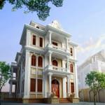 Tư vấn thiết kế biệt thự cổ điển kiểu pháp 3 tầng
