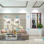 Mẫu thiết kế nội thất đơn giản tiện nghi cho nhà phố 2 tầng