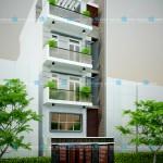 Mẫu thiết kế nhà phố mặt tiền 6m – 5 tầng
