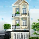 Mẫu thiết nhà phố 3 tầng diện tích 5x25m