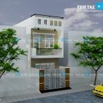 Mẫu nhà phố 1 trệt 1 lầu đơn giản – Diện tích 4x15m
