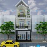 Mẫu nhà phố cổ điển 3 tầng – diện tích 5 x 16,5m