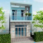 Mẫu thiết kế nhà phố 1 trệt 1 lầu – diện tích 5x15m