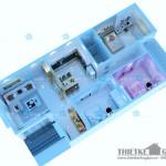 Mẫu thiết kế nội thất cho nhà cấp 4 – Diện tích 8x14m