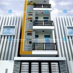Mẫu thiết kế nhà phố hiện đại 3,5 tầng – Mặt tiền 4m