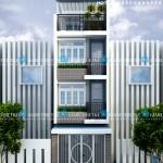 Mẫu thiết kế nhà phố hiện đại 2017 – Mặt tiền 4m