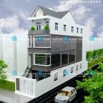Mẫu thiết kế nhà phố 5x20m – 4 tầng