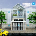 Mẫu thiết kế nhà phố 1 trệt 1 lầu – 5m x 14m