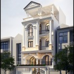 Mẫu thiết kế biệt thự phố 4 tầng  – Mặt tiền 7m