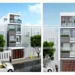 5 Mẫu nhà phố mặt tiền 4m – 4 tầng đẹp 2017