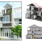 5 Mẫu nhà phố mặt tiền 5m – 3 tầng đẹp nhất hiện nay